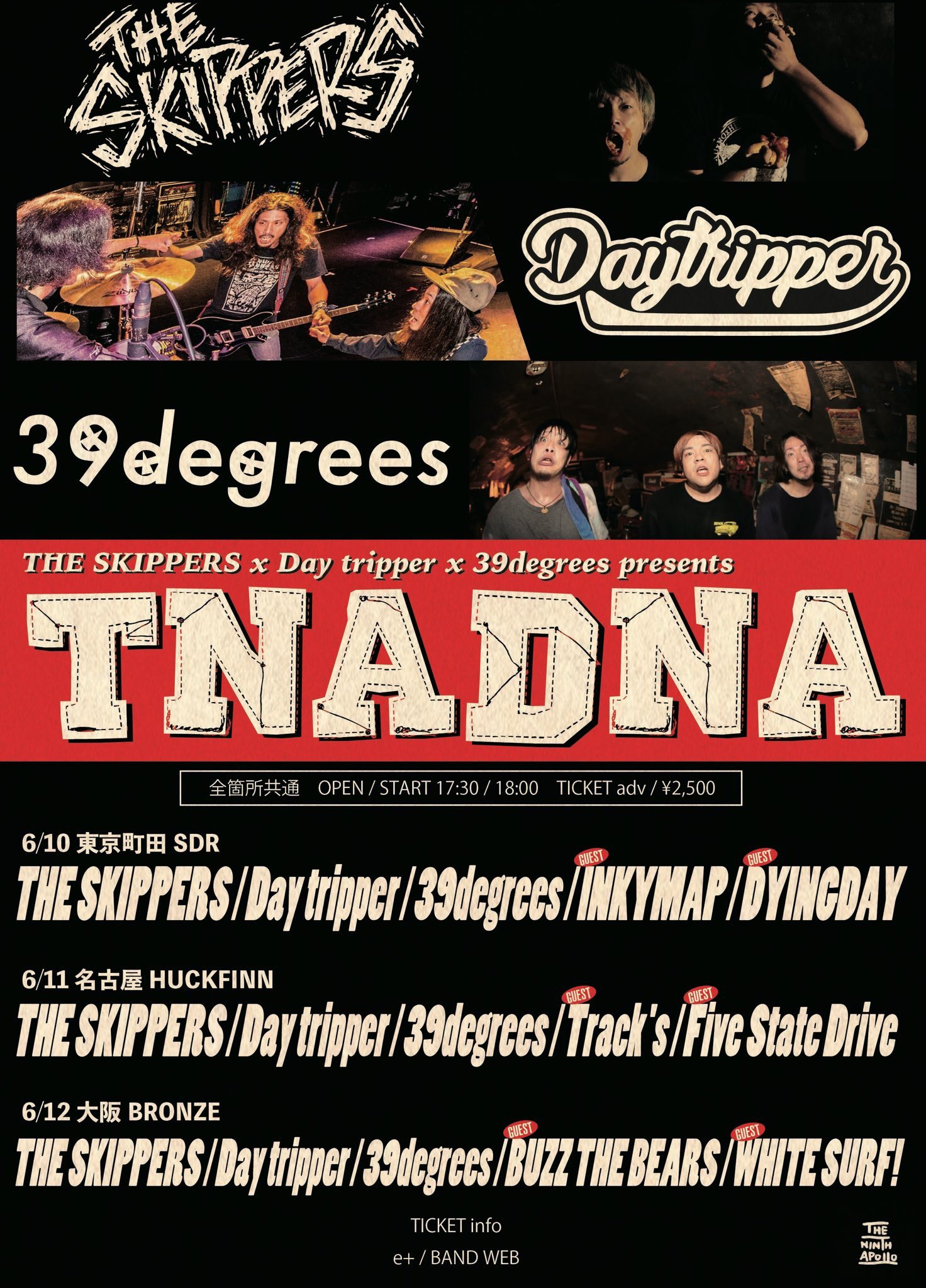 "THE SKIPPERS & Day tripper & 39degrees pre. ""TNADNA"""